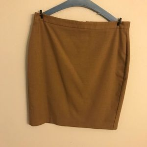 Camel colored pencil skirt